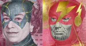 Superhero Bank Notes