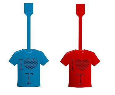 T-shirt tea infuser leaves