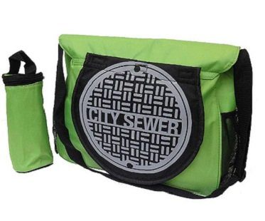 TMNT diaper bag back