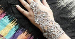 Tutorial Make DIY Lace Bracelet And Ring