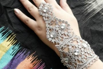 Tutorial Make DIY Lace Bracelet And Ring
