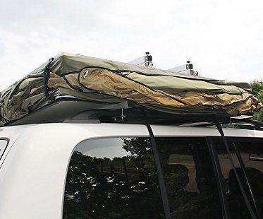 Vehicle Roof Top Tent car green