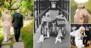Wedding Photographs Of Elderly Couples