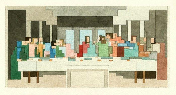 adam-lister-pixel-art-last-supper