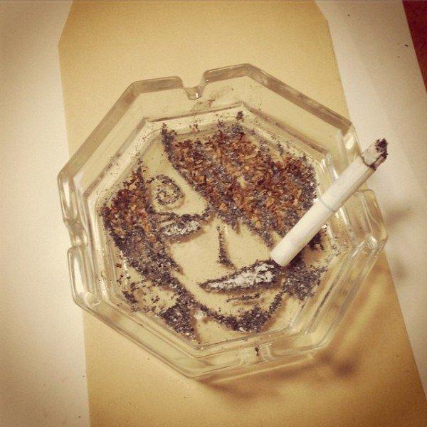 angry manga guy cigarette