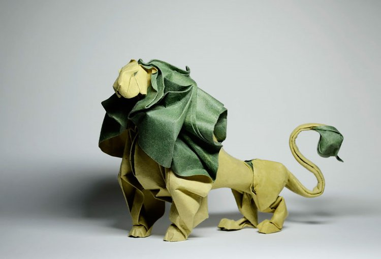 animal-origami-hoang-tien-quyet-lion