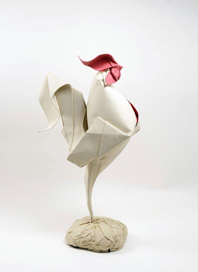 animal-origami-hoang-tien-quyet-rooster