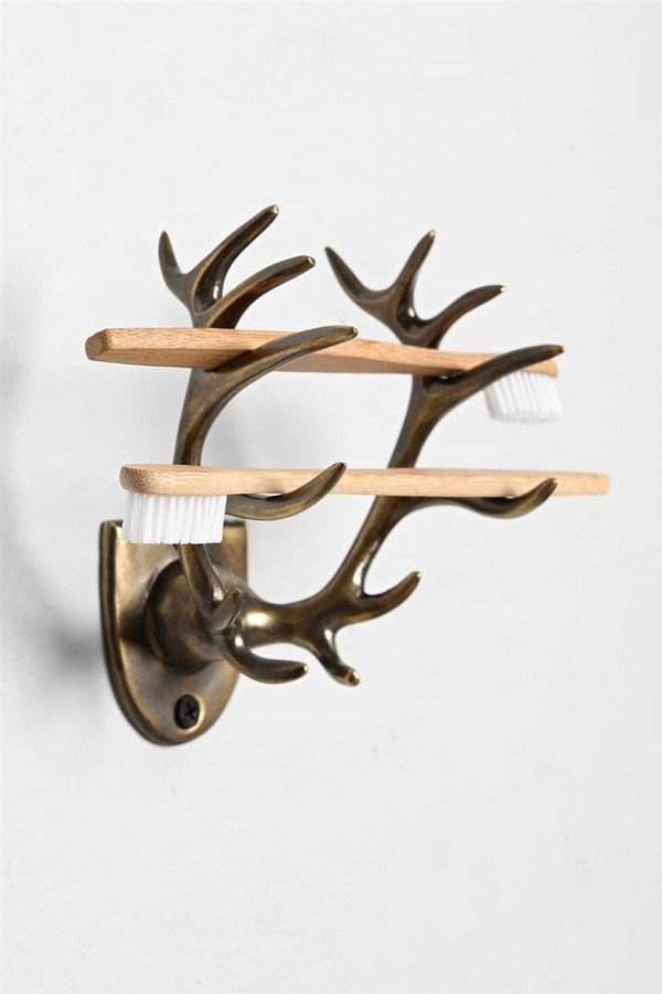 antler toothbrush holder