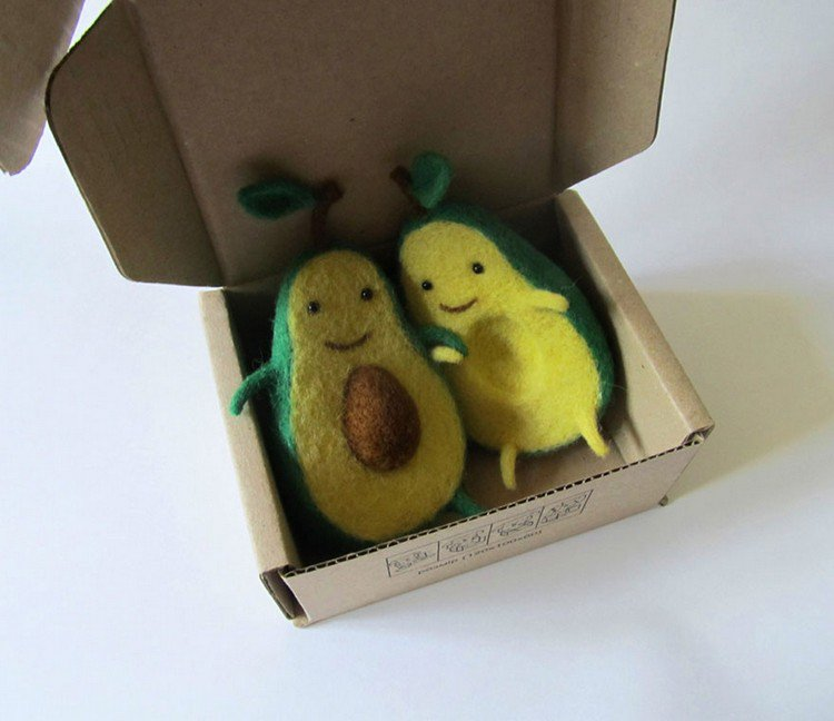 avocado characters box