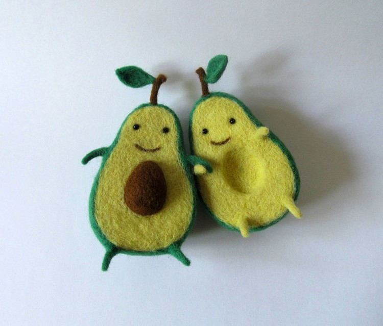 avocado characters hold hands