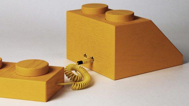 back yellow lego phone