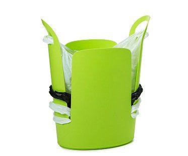 bag storing trash can