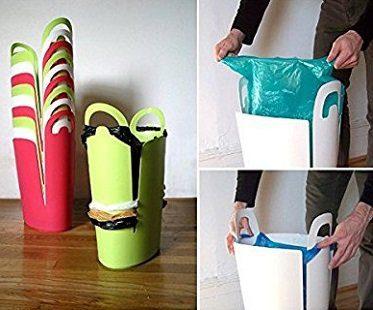 bag storing trash can plastic
