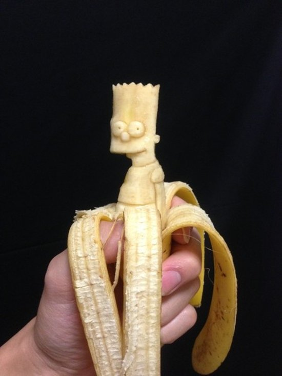 artist keisuke yamadas creates incredible banana carvings