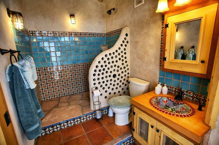 bathroom earthship