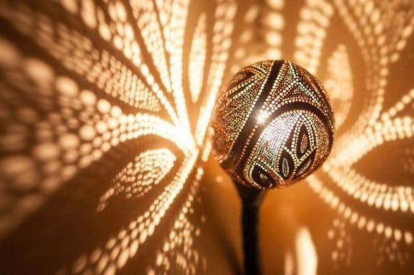 beautiful light patterns lamp