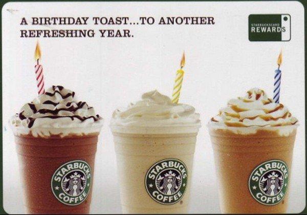 birthday free starbucks