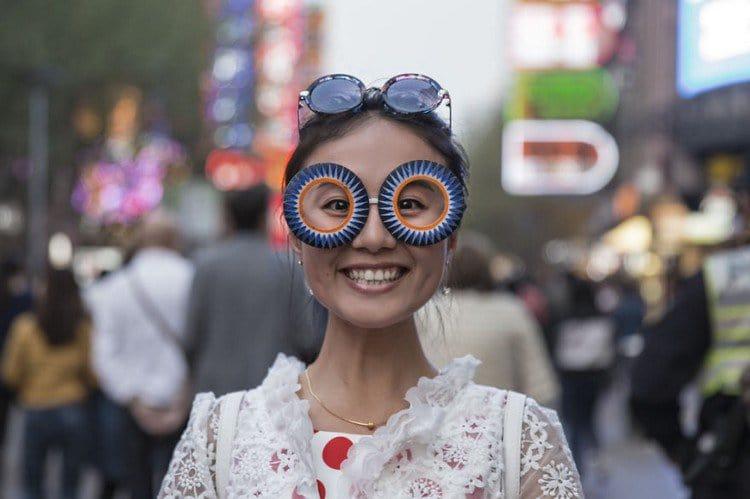 biz eyes eyewear happy lady