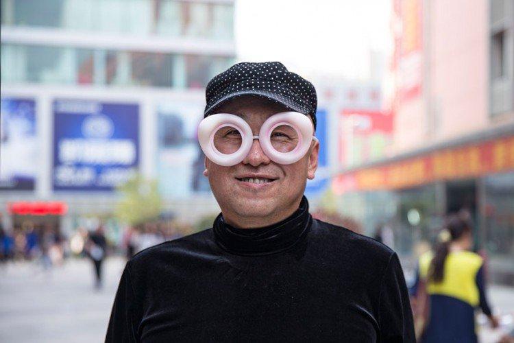biz eyes eyewear hat man