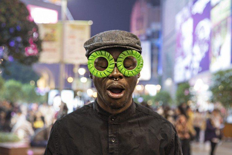 biz eyes eyewear man green