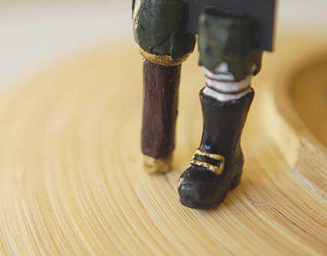 black boots peg leg