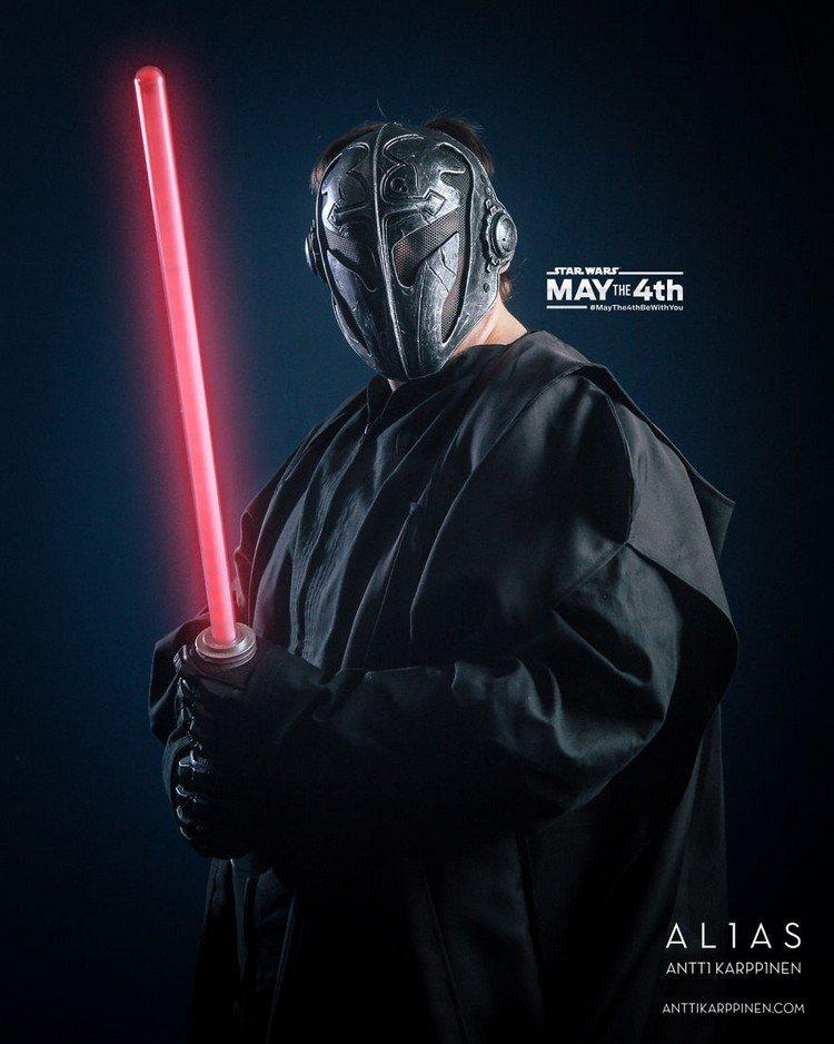 black figure light saber