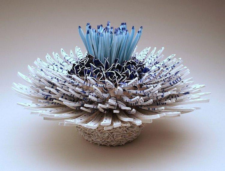 blue flower detail