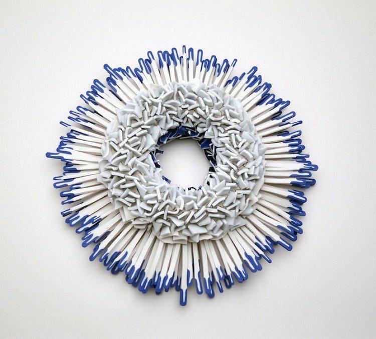 blue white flower full