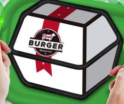 burger box sandwich bag white