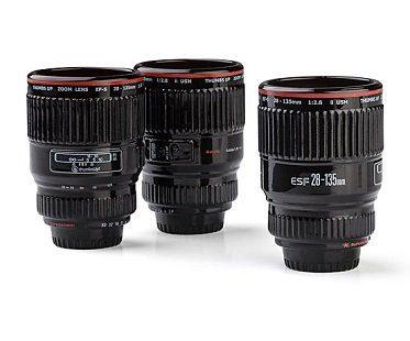 camera lens shot glasses set