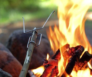 campfire stick forks camping