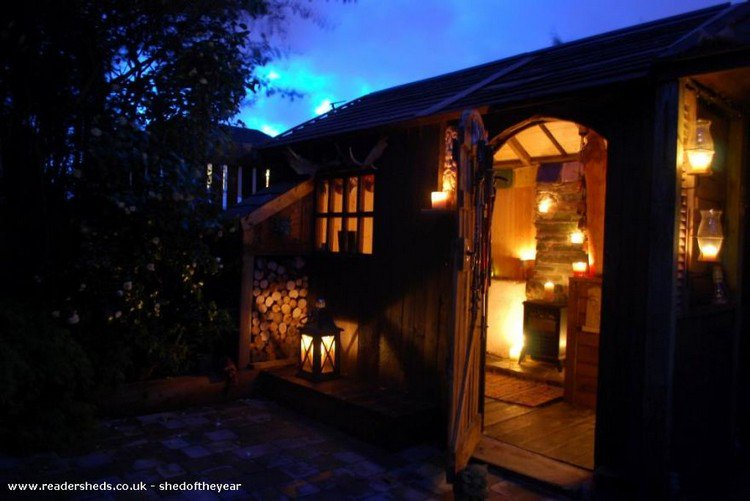 candle lit shed