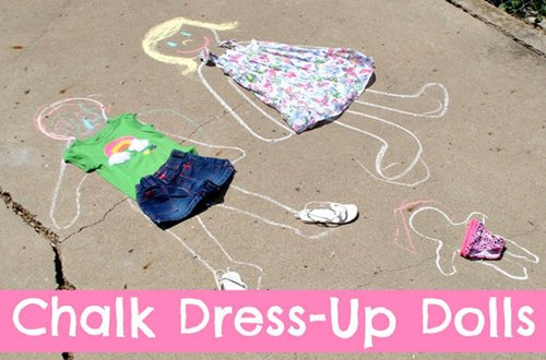 chalk dress up dolls