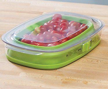 collapsible food container plastic