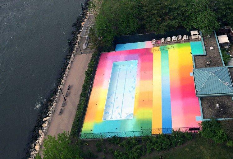 colorful pool