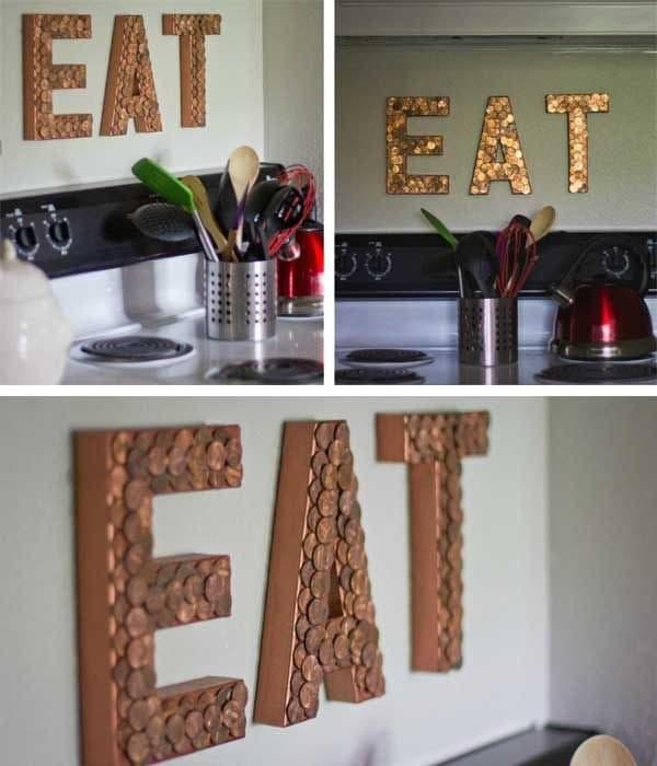 copper letters eat