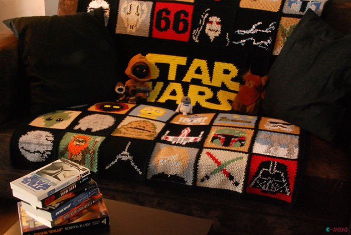 couch star wars blanket