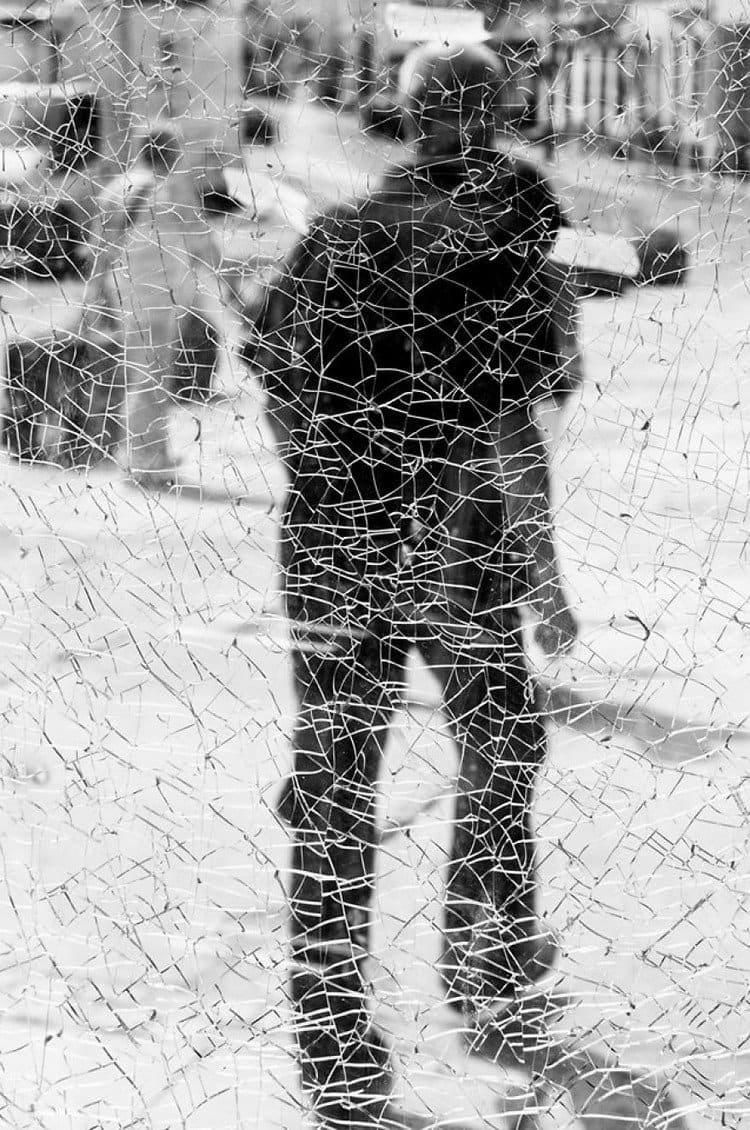 cracked glass man