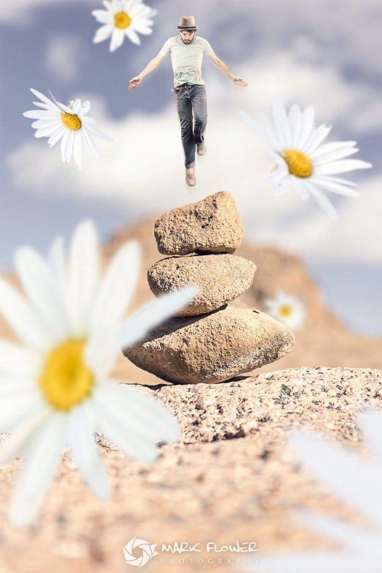 daisy jumping stones man