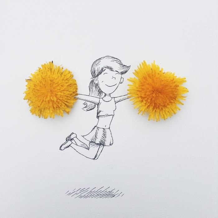 dandelion cheerleader