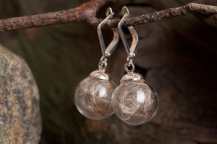dandelion earrings