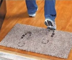 dirt trapping doormat