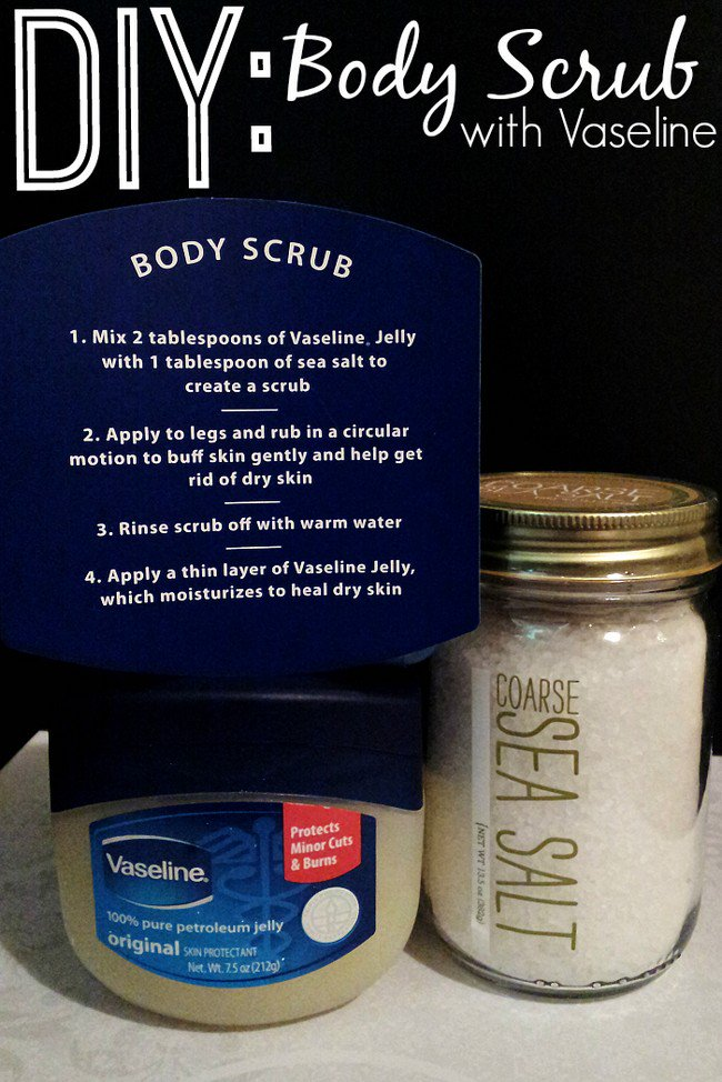 diy vaseline body scrub