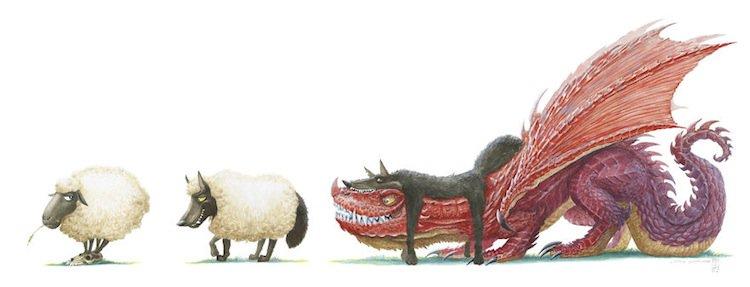 dragons-sheep