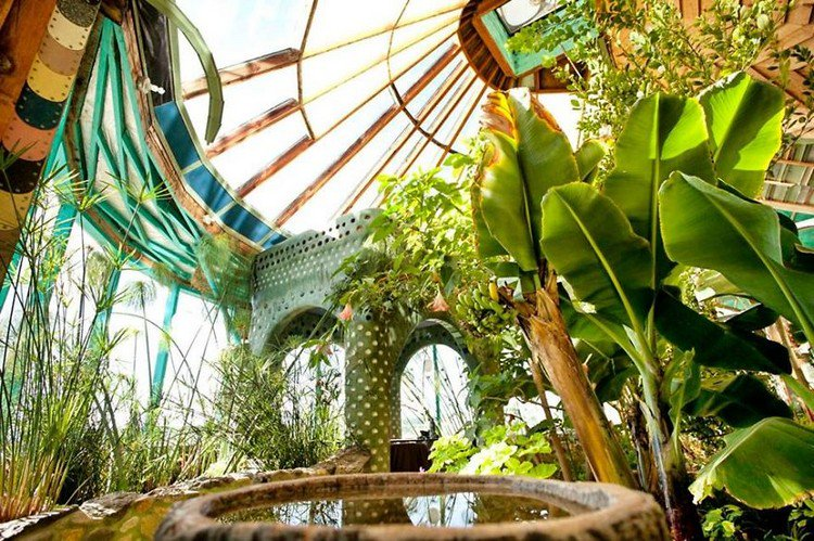 earthship greenery
