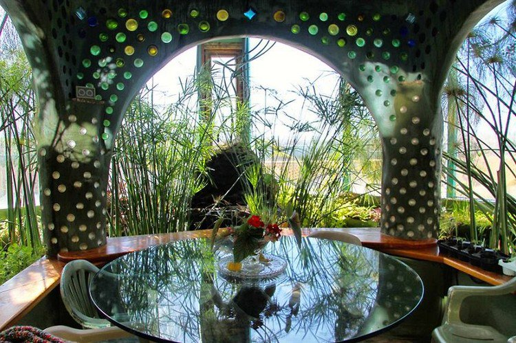 earthship outdoor table