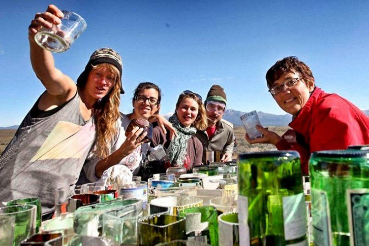 earthship people glass