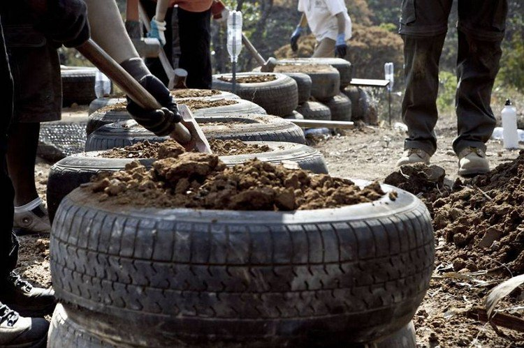 earthship tyre