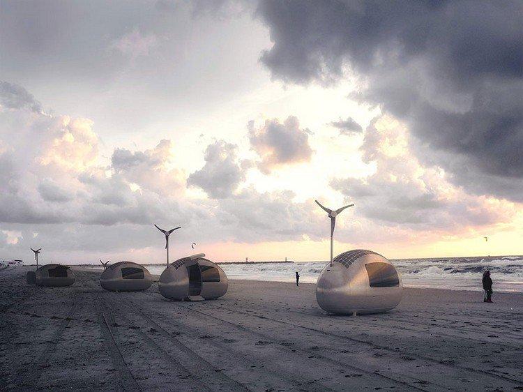 ecocapsules beach