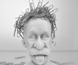 einstein magnetic paper clip holder